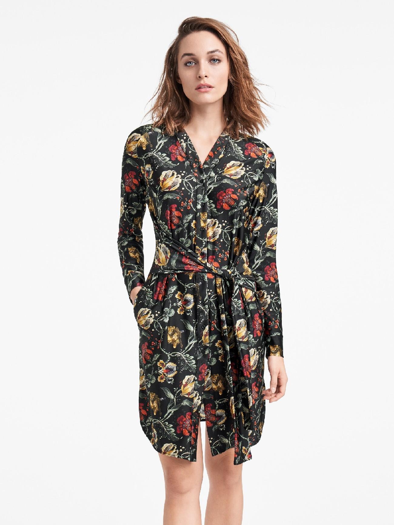 Купить со скидкой jungle print dress