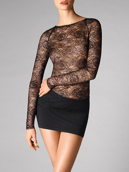 Stretch Lace Пуловер